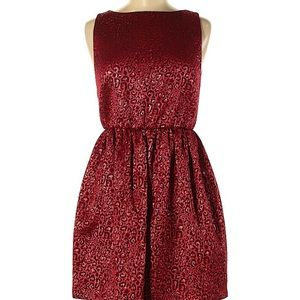 Alice and Olivia red leopard dress